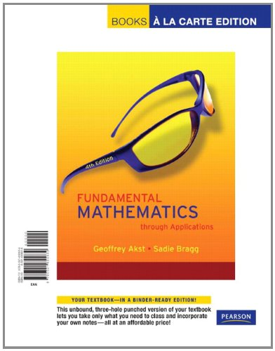 Fundamental Mathematics Through Applications (4Th Edition)