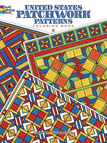 United States Patchwork Patterns Coloring Book (Dover Design Coloring Books)