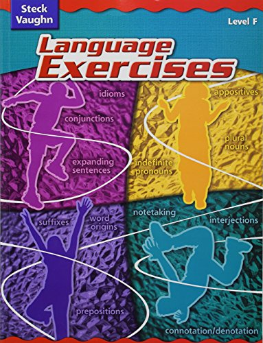 Steck-Vaughn Language Exercises: Student Edition Grade 6 Level F