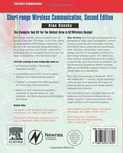 Short-range Wireless Communication, Second Edition: Fundamentals of RF System Design and Application (Communications Engineering)