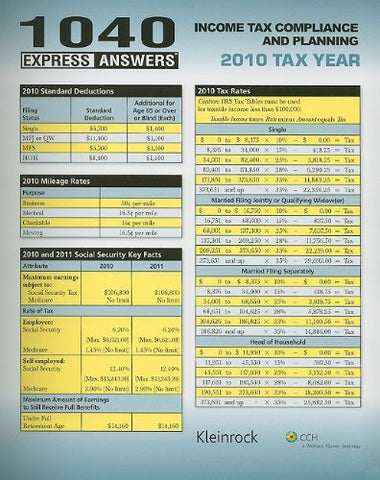 1040 Express Answers (2011) (For Tax Year 2010)