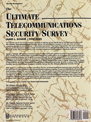 Ultimate Telecommunications Security Survey