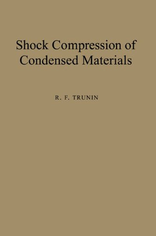 Shock Compression of Condensed Materials