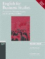 English for Business Studies Teacher's book: A Course for Business Studies and Economics Students (Cambridge Professional English)