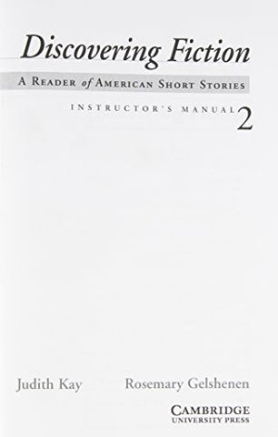 Discovering Fiction Level 2 Instructor's Manual: A Reader of American Short Stories