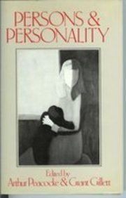 Persons and Personality: A Contemporary Inquiry (Ian Ramsey Centre publication)