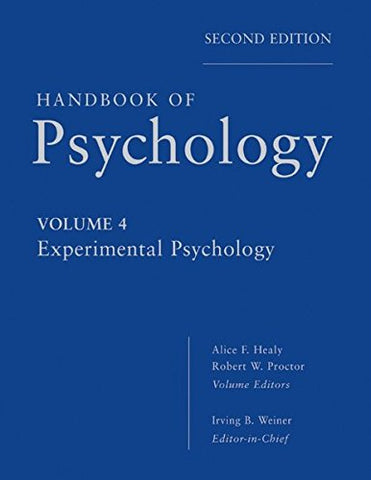 Handbook of Psychology, Experimental Psychology (Volume 4)