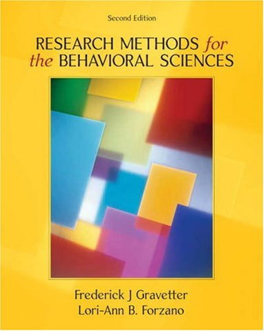 Research Methods for the Behavioral Sciences (Available Titles CengageNOW)