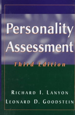 Personality Assessment (Wiley Series on Personality Processes)