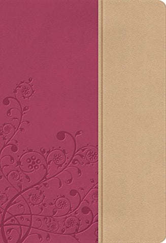 NKJV, The Woman's Study Bible, Imitation Leather, Pink/Tan: Second Edition