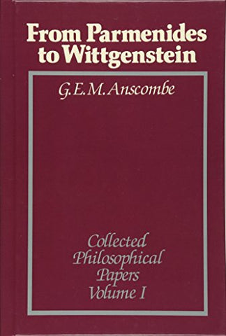 From Parmenides to Wittgenstein, Volume 1: Collected Philosophical Papers