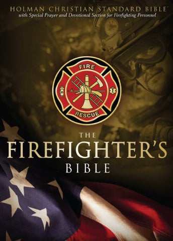 Hcsb Firefighters Bible, Red Leathertouch