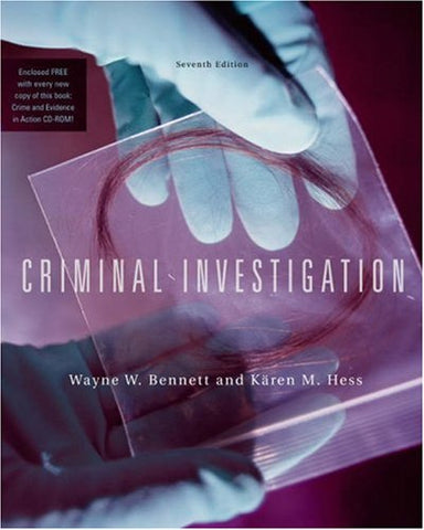 Criminal Investigation (with CD-ROM and InfoTrac) (Available Titles CengageNOW)
