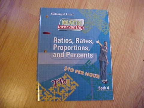 Math intervention, Book 4: Ratios, Rates, Proportions and Percents