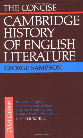 The Concise Cambridge History of English Literature