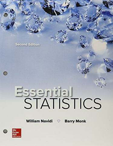 Package: Loose Leaf for Essential Statistics with Connect Math Hosted by ALEKS Access Card