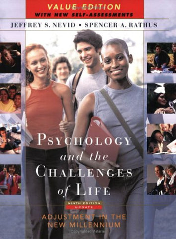 Psychology and the Challenges of Life: Adjustment in the New Millennium