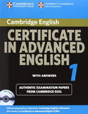 Cambridge Certificate in Advanced English 1 for updated exam Self-study Pack: Official Examination papers from University of Cambridge ESOL Examinations (CAE Practice Tests)