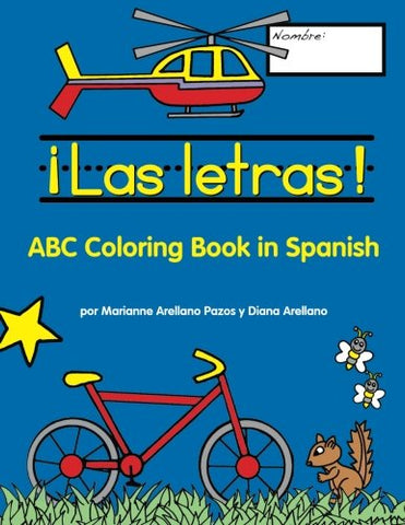 Las letras!: ABC Coloring Book in Spanish (Spanish Edition)