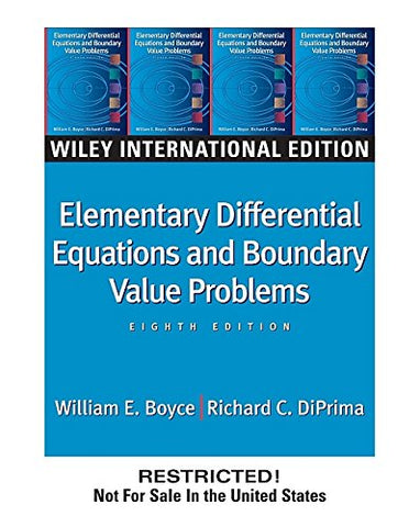 WIE Elementary Differential Equations and Boundary Value Problems