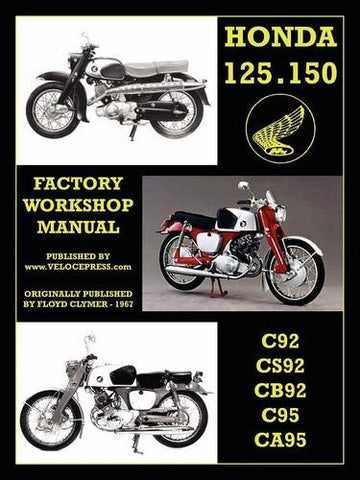 HONDA MOTORCYCLES WORKSHOP MANUAL 125-150 TWINS 1959-1966