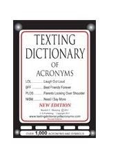 Texting Dictionary of Acronyms (C G Publishing)