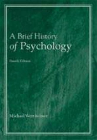 A Brief History of Psychology