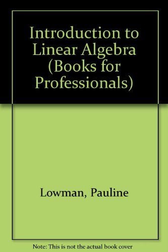 Introduction to Linear Algebra (Harcourt Brace Jovanovich College Outline Series)