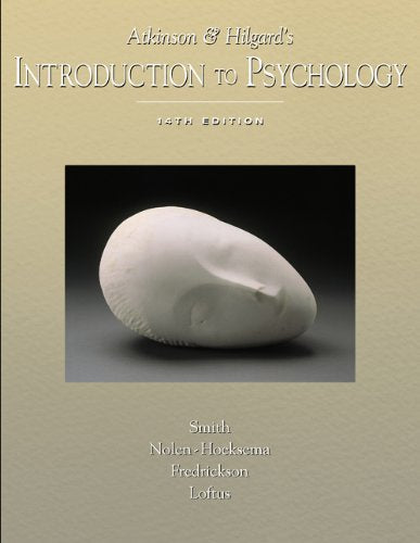 Atkinson And Hilgards Introduction To Psychology (With Lecture Notes And Infotrac)