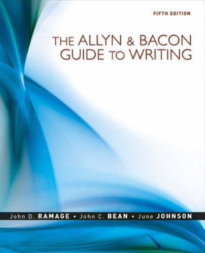 Allyn & Bacon Guide To Writing, The (5Th Edition)