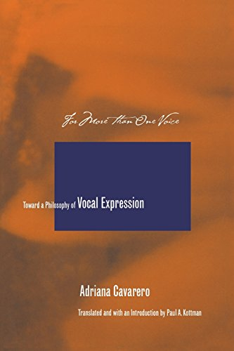 For More than One Voice: Toward a Philosophy of Vocal Expression