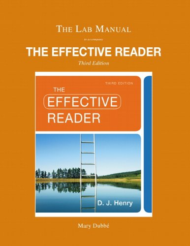 Lab Manual for The Effective Reader
