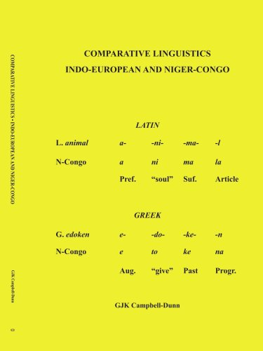 Comparative Linguistics: Indo - European and Niger - Congo