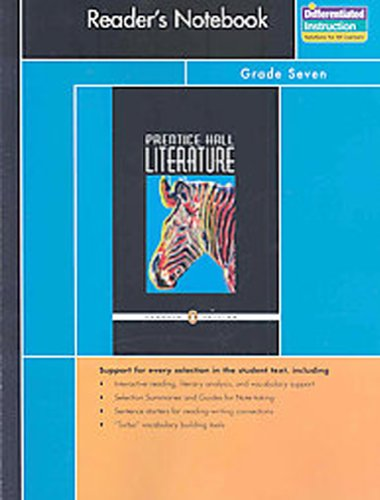 PRENTICE HALL LITERATURE PENGUIN EDITION READERS NOTEBOOK GRADE 7 8TH   EDITION 2007C