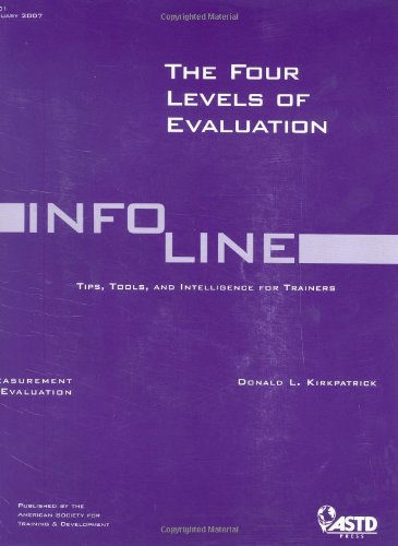 The Four Levels of Evaluation (Infoline ASTD)