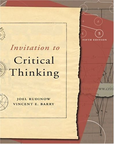 Invitation to Critical Thinking (with InfoTrac)