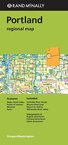 Rand Mcnally Portland Regional Map (Green Cover) (Rand Mcnally Regional Map)