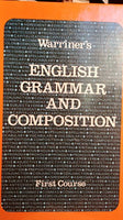 Warriner'S English Grammar And Composition: First Course