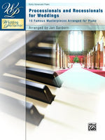 Wedding Performer -- Wedding Processionals and Recessionals: 10 Famous Masterpieces Arranged for Piano (Wedding Performer Series)