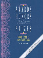 Awards, Honors & Prizes: International (Awards, Honors & Prizes: Volume 2: International & Foreign)