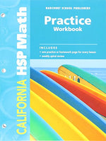 Harcourt School Publishers Math California: Practice Workbook  Student Edition Grade 3
