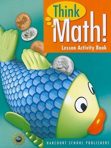 Think Math! Lesson Activity Book, Grade 1