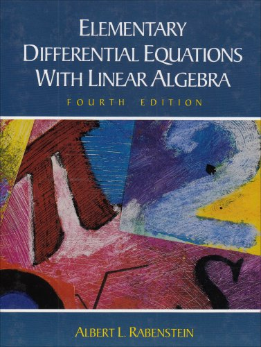 Elementary Differential Equations With Linear Algebra