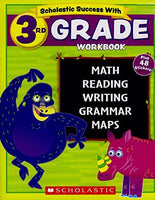 Scholastic - 3rd GRADE Workbook with Motivational Stickers (Scholastic Success With)