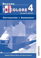 Encore Tricolore Nouvelle 4 Copymasters and Assessment
