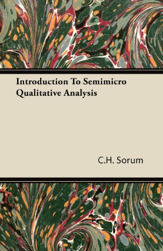 Introduction to Semimicro Qualitative Analysis