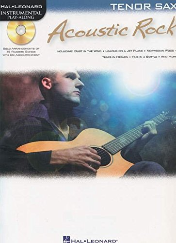 ACOUSTIC ROCK FOR TENOR SAX - INSTRUMENTAL PLAY-ALONG CD/PKG