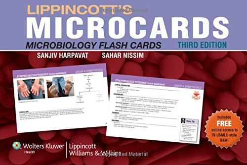 Lippincott'S Microcards: Microbiology Flash Cards