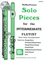 Mel Bay Solo Pieces For The Intermediate Flutist Book/CD Set