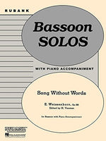 Song Without Words, Op. 226: Bassoon Solo with Piano - Grade 2.5